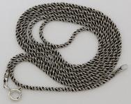 Halskette ~ NEMIA ~ 66 cm - geschwärzt - Silber - Windalf.de