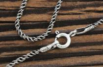 Mittelalter Halskette ~ NEMIA ~ 66 cm - geschwärzt - Silber - Windalf.de