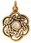 Anhänger ~ NUADA ~ Keltischer Knoten - Perlmutt - Bronze - Windalf.de