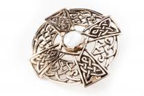 Fibel ~ NAMIDA ~ Keltisches Kreuz - Perlmutt - Bronze - Windalf.de