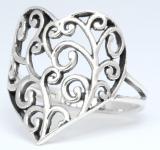 Ring ~ TIARA ~ Liebesherz - Silber - Windalf.de