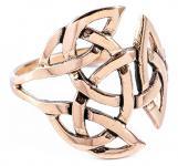 Keltischer Ring ~ NEMAIN ~ 20 mm - Offene Dreifalt - Bronze - Windalf.de