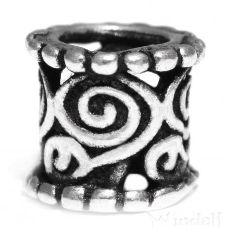 Bart- & Haarschmuck ~ IDUNA ~ Kleine Perle - Antik Silber - Windalf.de