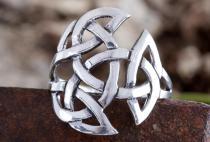 Celtic Lucky Ring ~ NEMAIN ~ h: 2 cm - Offene Dreifalt - Kelten Schmuck - Silber - Windalf.de