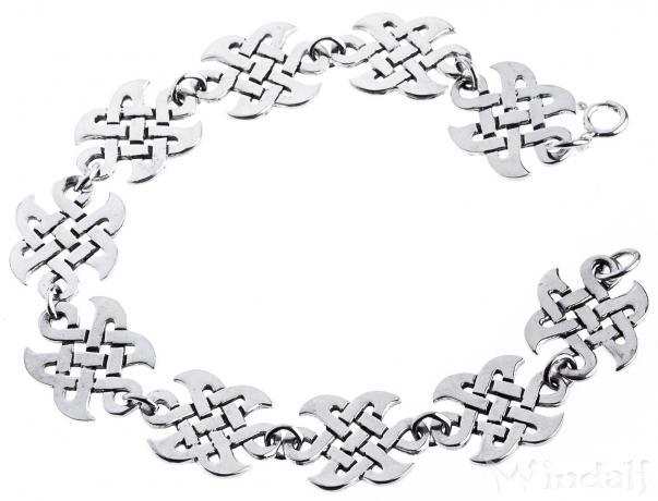 Keltische Armkette ~ ÂKAJA ~ 18.5 cm - Celtic Freundschafts-Armband - Silber - Windalf.de