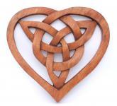 Wandbild ~ FIONA ~ Keltisches Herz - aus Holz - Windalf.de