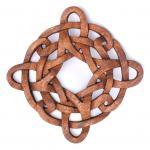 Wandbild ~ ODAN ~ 21 cm - Keltischer Knoten - Handarbeit aus Holz - Windalf.de