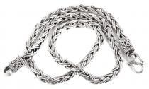 Wikinger Halskette ~ RAGNAR ~ l: 55 cm - Handgeschmiedet - Silber - Windalf.de