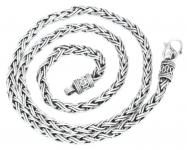 Wikinger Halskette ~ RAGNAR ~ 55 cm - Handgeschmiedet - Silber - Windalf.de