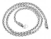 Lange Wikinger Halskette ~ RAGNAR ~ 65 cm - Handgearbeitet - Silber - Windalf.de