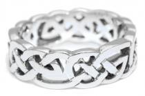 Keltischer Freundschaftsring ~ FIONA ~ Keltischer-Knoten-Ring - Silber - Windalf.de