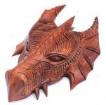 Pagan Schutzdrache ~ FAFNIR ~ 22 cm - Drachen Wandrelief - Handarbeit aus Holz - Windalf.de