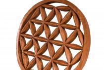 Wanddeko ~ ALYAH ~  Ø 20cm - Blume des Lebens - Handgearbeitet aus Holz - Windalf.de