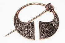 Wikinger Fibel ~ AÒDHÀN ~ Ringfibel aus Kilkenny ~ Massiv - Bronze - Windalf.de