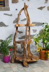 Rustikale Blumentreppe ~ FLORA ~ 168 cm - Vintage Pflanzentreppe mit  3 Ablagen - Handarbeit - Unikat aus Wurzelholz - Windalf.de