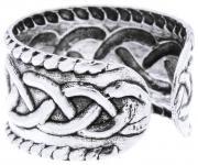 Rustikale Ohrklemme ~ ATÂS ~ 6 mm - Keltische Knoten - Antik Silber - Windalf.de