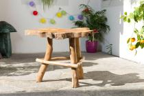 Rustikaler Beistell -Tisch ~ AVON ~ 48 cm - Abstelltisch - Unikat aus Wurzelholz - Windalf.de