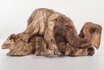 Deko Figur ~ EDDA ~ Großer Elefant - Unikat - Wurzelholz - Windalf.de
