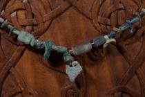 Antike Halskette ~ BLAZA ~ l: 45 cm - Römisches Glas - Windalf.de