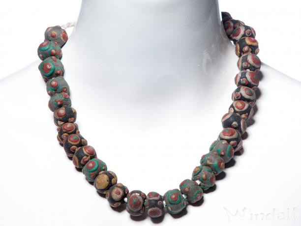 Wikinger Perlenkette ~ AMIA ~ 50 cm - Vintage Vikings Halsschmuck - Bunte Perlen - Windalf.de
