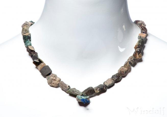 Rustikale Wikinger Perlenkette ~ MYRIÄLLA ~ l: 42 cm - Römisches Glas - Windalf.de
