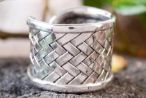 Breiter Wikinger Ring ~ ARWIN ~ h: 1,7 cm - Handgearbeitet - Silber - Windalf.de