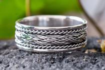 Ring ~ BRYANN ~ Wikinger Zopf - Handgeschmiedet - Silber - Windalf.de