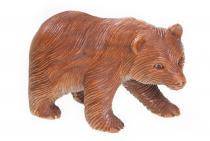 Holz Figur ~ BÖR ~ b: 15 cm - Kleiner Bär - Handarbeit aus Holz - Windalf.de