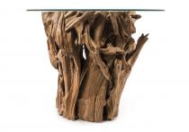Rustikaler Kaffee Tisch ~ ARAZ ~ h: 80 cm - Wurzelholz - Windalf.de