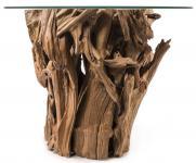 Rustikaler Kaffee-Tisch ~ ARAZ ~ Höhe: 80 cm - Natur Küchentisch - Handarbeit aus Wurzelholz - Windalf.de