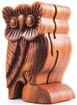 Geschenkdose - Schmuckdose ~ FJÔDOR ~ 11.5 cm - Eule Schmuckschatulle - Handarbeit aus Holz - Windalf.de