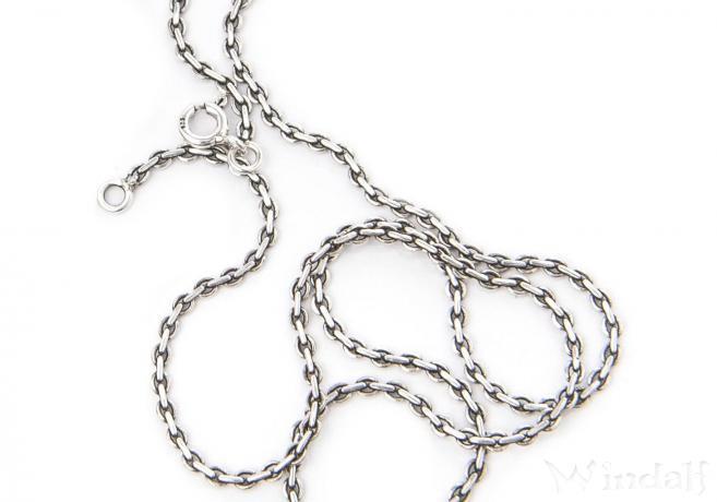 Asatru Wikinger Halskette ~ THARA ~ 60 cm - Vikings Schmuck - Vintage Silber - Windalf.de