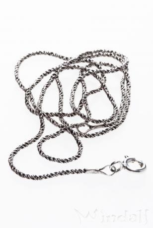 Historische Halskette ~ NORVINA ~ 65 cm - Silberkette - Antik Silber - Windalf.de