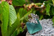 Ring ~ BETELI ~ Zarte Blätter -  Silber - Windalf.de