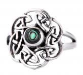 Keltischer Ring ~ TAVIA ~ Pauamuschel - Silber - Windalf.de