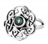 Keltischer Ring ~ TAVIA ~ 15 mm - Pauamuschel - Silber - Windalf.de