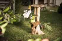 Hobbit Barhocker ~ LUCIA : h: 80 cm - Blumentreppe - Handarbeit aus Wurzelholz - Windalf.de