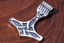 Asatru Anhänger ~ THORALF ~ 2.8 cm - Vikings Thors Hammer - Silber - Windalf.de