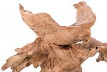 Adler Garten Skulptur ~ ADENAR ~ b: 120 cm - Adler Holz Figur - Unikat aus Wurzelholz - Windalf.de