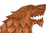 Wikinger Wolf ~ FENRIR ~ 36 cm - Wand Deko - Handarbeit aus Holz - Windalf.de