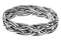 Wikinger Ring ~ MANON ~ Zopf-Muster - Silber - Windalf.de