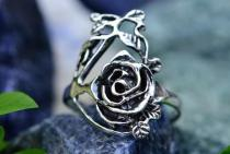 Zarter Ring ~ ROZARIA ~ Rose - Silber - Windalf.de