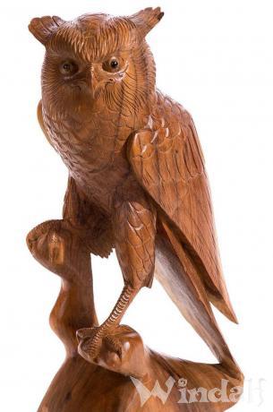 Deko Holz Eule ~ RAYA ~ 53 cm - Garten Eulen Figur - Gartendeko - Handarbeit - Windalf.de
