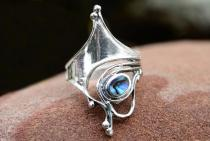 Langer Ring ~ VENICE ~ 3 cm - Mit Pauamuschel - Silber - Windalf.de