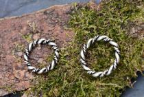 Vikings Ring ~ DHARA ~ h: 0.33 cm - Wikinger Schmuck - Kordel-Ring - Silber - Windalf.de
