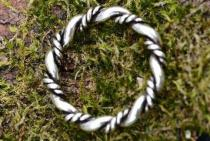 Vikings Ring ~ DHARA ~ 3.3 mm - Wikinger Schmuck - Kordel-Ring - Handarbeit aus Silber - Windalf.de