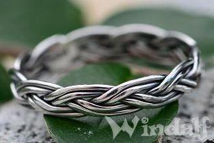 Schmaler Flecht Ring ~ RANA ~ 0.3 cm - Wikinger Schmuck - Silber - Windalf.de