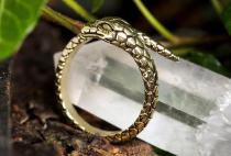 Zauber Ring ~ BUARA ~ h: 1.1 cm - Midgardschlange - Bronze - Windalf.de