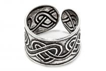 Ohrklemme ~ RAYA ~ 8 mm - Haarschmuck - Keltische Herzen - Vintage Silber - Windalf.de