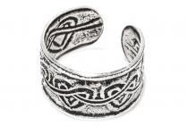 Vintage Ohrklemme ~ ZORI ~ 5 mm - Haarschmuck Keltische Herzen - Silber - Windalf.de